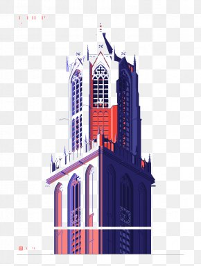 Church Building Pattern - Graphic Design Church Illustration PNG