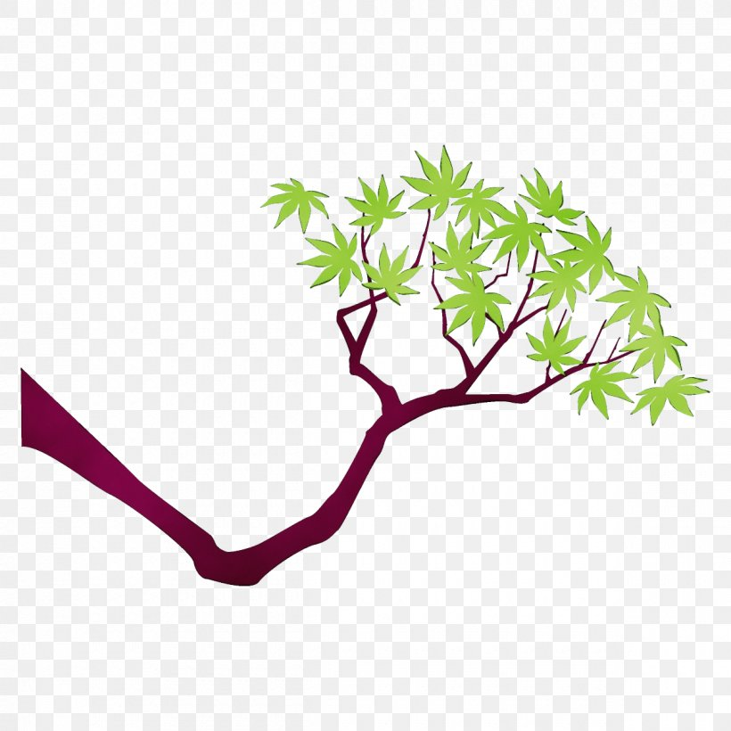 Branch Leaf Plant Tree Plant Stem, PNG, 1200x1200px, Watercolor, Branch, Flower, Leaf, Paint Download Free