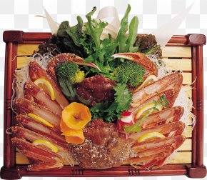 Crab Cuisine - Japanese Cuisine Crab Sushi Sashimi Miso Soup PNG