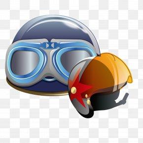 Cartoon Helmet - Bicycle Helmet Motorcycle Helmet Ski Helmet Football Helmet PNG