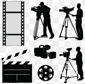 Video Equipment Silhouette - Camera Operator Photography Clip Art PNG
