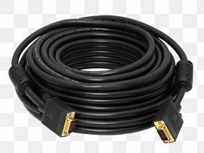 Computer - VGA Connector Digital Visual Interface Super Video Graphics Array Electrical Cable Computer Monitors PNG