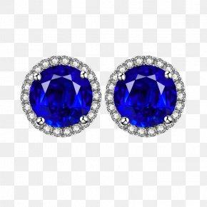 Sapphire Earrings Earring - Earring Sapphire Diamond Jewellery PNG