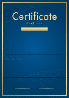 Certificate Template Blue Clip Art Image - ANGLE Plane Line Point PNG