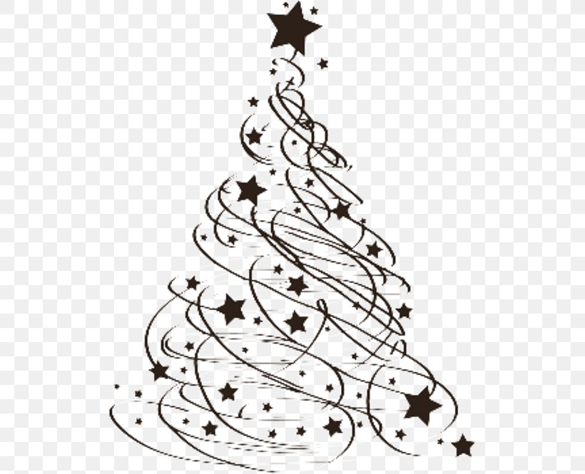 Christmas Tree Christmas Day Drawing Clip Art, PNG, 515x665px, Christmas Tree, Art, Black And White, Branch, Calligraphy Download Free