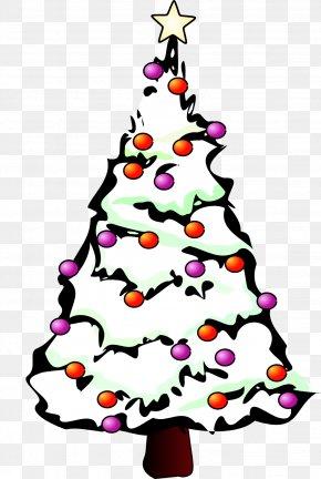 Christmas Tree Illustrator Art, PNG