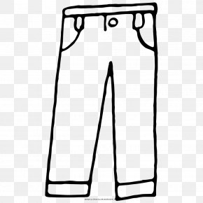 Jeans - Pants Drawing Coloring Book Black And White Line Art PNG