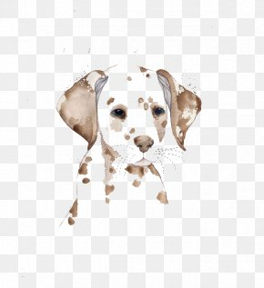 Watercolor Spotted Dog - Dalmatian Dog Watercolor Painting Drawing Illustration PNG