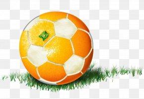 Creative Orange Soccer - Football Creativity Orange PNG
