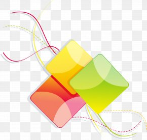 Colorful Abstract Lines Geometric Squares - Line Geometry Icon PNG