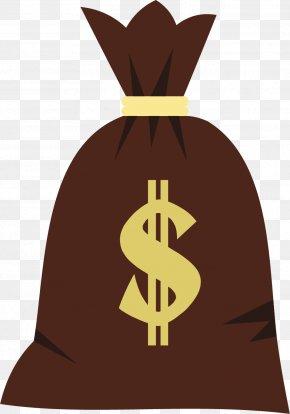 Cartoon Brown Purse - Money Bag Banknote PNG