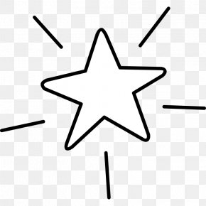 Star Line Art - Star Drawing Clip Art PNG