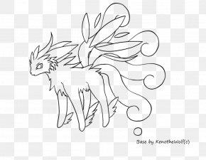 Winged Wolf Drawings - Mammal Sketch Line Art Illustration Cartoon PNG