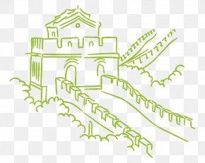 Great Wall Of China - Great Wall Of China Drawing Vector Graphics Image Illustration PNG