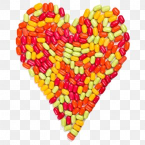 Heart-shaped Candy Particles - Jelly Bean Candy Sugar Sweetness PNG