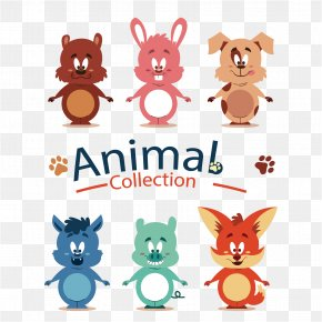 Cute Cartoon Animals Vector Material Design - Animated Cartoon Download Euclidean Vector PNG