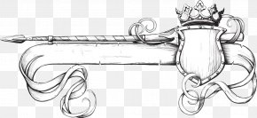 Western Style Spear And Shield Banner - Banner Stock Photography Clip Art PNG