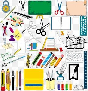 School Supplies Vector Material, - School Supplies Drawing PNG