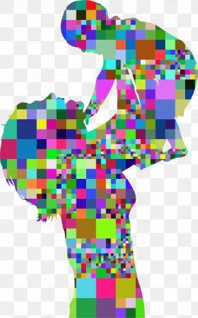 Mosaic - Mother Infant Clip Art PNG