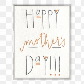 Mother Card - Paper Greeting & Note Cards Letterpress Printing Mother's Day PNG