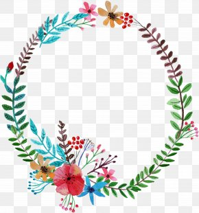 Hand-painted Flower Garland - Flower Garland Wreath PNG