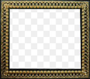 Gold Frame 7 - Picture Frame Painting Art PNG