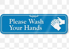 Hand Washing Signs - Sanitize Hands Here With Down Arrow Symbol Logo Brand Signage PNG