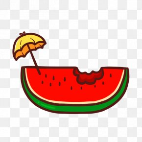 Lovely Watermelon Summer Drinks - Watermelon Cartoon Clip Art PNG