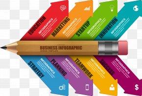 Vector Pencil - Infographic Pencil Diagram Information PNG