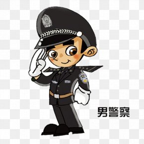 Male Police Element - Cartoon Police Officer PNG
