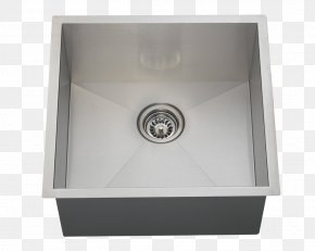 Sink - Bowl Sink Stainless Steel Brushed Metal PNG