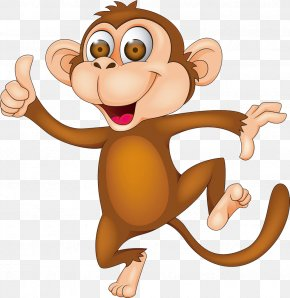 Monkey - Monkey Cartoon Clip Art PNG