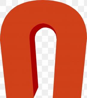 Orange U-magnet - Red Angle Font PNG