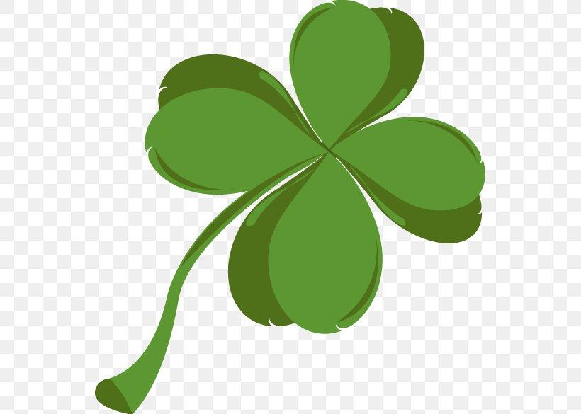 Shamrock Saint Patrick's Day Clip Art, PNG, 551x585px, Shamrock, Clover, Flora, Flowering Plant, Fourleaf Clover Download Free