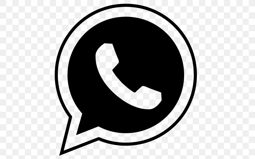 WhatsApp Logo Icon, PNG, 512x512px, Whatsapp, Area, Black And White, Cdr, Logo Download Free
