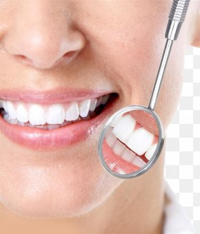 Plastic Teeth - Dentistry Tooth Whitening Mouth Mirror Teeth Cleaning PNG