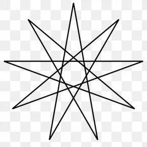 Shape - Enneagram Star Polygon Shape PNG