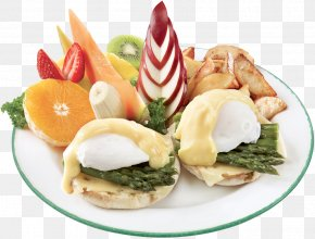 Breakfast - Full Breakfast Hors D'oeuvre Eggs Benedict English Muffin PNG