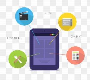 Flat Tablet Function Information - Tablet Computer Flat Design Information PNG