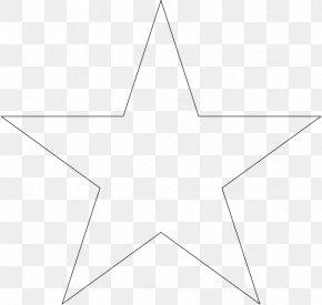 White Star - Star Polygon Line Art PNG