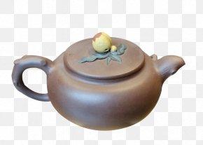 Peach Button Teapot - Yixing Clay Teapot Yixing Clay Teapot PNG