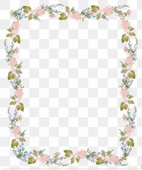 Flowers Border Design Invitation - Wedding Invitation Clip Art PNG