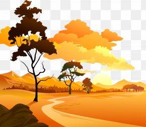 Natural Landscape - Sunset Euclidean Vector Sunrise PNG