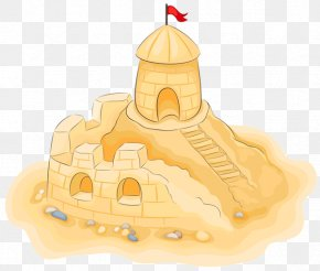 Sand Castle On The Beach - Sand Art And Play Castle Clip Art PNG
