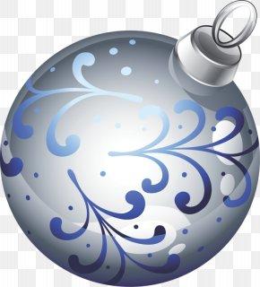 Silver Christmas Decoration Ball - Ball Christmas Ornament PNG