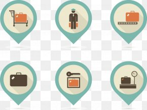 Vintage Airport Vector Icons - Airport Euclidean Vector Baggage PNG