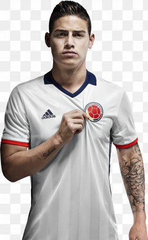 T-shirt - James Rodríguez Copa América Centenario Colombia National Football Team 2015 Copa América T-shirt PNG