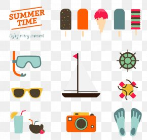 Summer Vacation Background Element Vector Material - Wedding Invitation Flat Design Summer PNG
