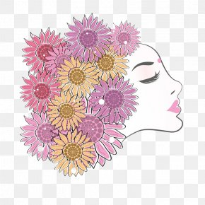 March 8 Women's Day As A Flower-like Woman - Public Holiday International Womens Day Woman March 8 PNG