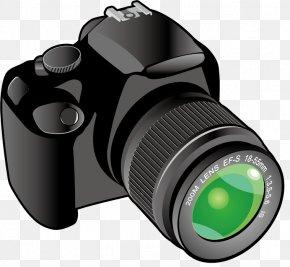 Cartoon High Reflex Camera - Camera Lens Clip Art PNG